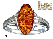 Jewellery SILVER sterling ring.  Stone: amber. TAG: ; name: R-949; weight: 2.85g.