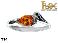 Jewellery SILVER sterling ring.  Stone: amber. TAG: ; name: R-962; weight: 1.8g.