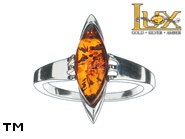 Jewellery SILVER sterling ring.  Stone: amber. TAG: ; name: R-964; weight: 3.5g.