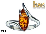 Jewellery SILVER sterling ring.  Stone: amber. TAG: ; name: R-969; weight: 3.2g.