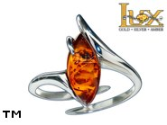 Jewellery SILVER sterling ring.  Stone: amber. TAG: ; name: R-969J; weight: 2.7g.