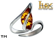 Jewellery SILVER sterling ring.  Stone: amber. TAG: ; name: R-972J; weight: 3g.