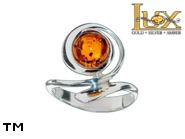 Jewellery SILVER sterling ring.  Stone: amber. TAG: ; name: R-979; weight: 4.1g.