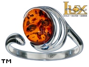Jewellery SILVER sterling ring.  Stone: amber. TAG: ; name: R-981J; weight: 2.2g.