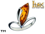 Jewellery SILVER sterling ring.  Stone: amber. TAG: ; name: R-984; weight: 2.9g.