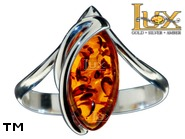 Jewellery SILVER sterling ring.  Stone: amber. TAG: ; name: R-998; weight: 2.9g.