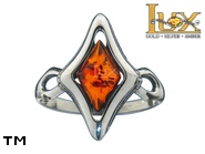 Jewellery SILVER sterling ring.  Stone: amber. TAG: ; name: R-999; weight: 2.8g.