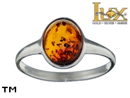 Jewellery SILVER sterling ring.  Stone: amber. TAG: ; name: R-A12; weight: 1.7g.
