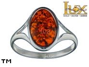 Jewellery SILVER sterling ring.  Stone: amber. TAG: ; name: R-A13; weight: 2.2g.