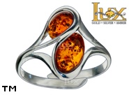 Jewellery SILVER sterling ring.  Stone: amber. TAG: ; name: R-A16J; weight: 3g.