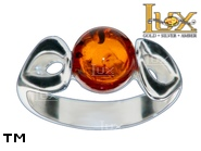 Jewellery SILVER sterling ring.  Stone: amber. TAG: ; name: R-A20; weight: 3.6g.