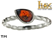 Jewellery SILVER sterling ring.  Stone: amber. TAG: ; name: R-A21-2; weight: 1.4g.
