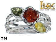 Jewellery SILVER sterling ring.  Stone: amber. TAG: ; name: R-A21; weight: 4.6g.