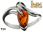 Jewellery SILVER sterling ring.  Stone: amber. TAG: ; name: R-A39; weight: 3g.