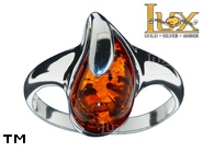 Jewellery SILVER sterling ring.  Stone: amber. TAG: ; name: R-A47; weight: 3.1g.
