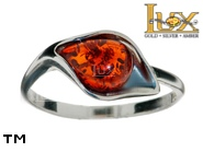 Jewellery SILVER sterling ring.  Stone: amber. TAG: ; name: R-A48; weight: 2.1g.