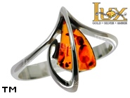Jewellery SILVER sterling ring.  Stone: amber. TAG: ; name: R-A87; weight: 2.6g.