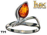 Jewellery SILVER sterling ring.  Stone: amber. TAG: nature; name: R-D51; weight: 2.5g.