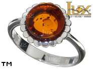Jewellery SILVER sterling ring.  Stone: amber. TAG: nature, modern; name: R-E47; weight: 3.3g.